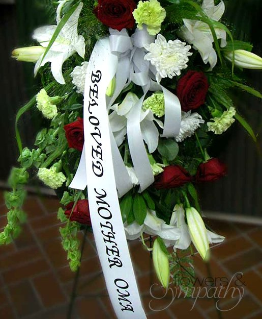 Top Personalized Ribbon - Flowers & Sympathy UW85